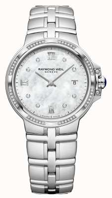 Raymond Weil Parsifalowe damskie kwarcowe klasyczne | 56 diamentów Matka perły 5180-STS-00995
