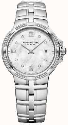 Raymond Weil Parsifal damski kwarcowy klasyczny | 56 diamentów | Matka perły 5180-STS-00995