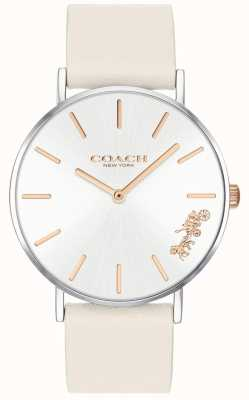 Coach Zegarek damski zegarek | kredowa biała skóra | biała tarcza 14503117