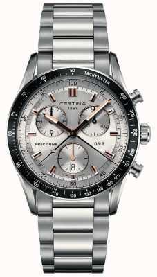 Certina Męskie ds-2 | Chronograf przed nadpisami | srebrna tarcza | C0244471103101
