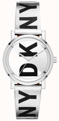DKNY Srebrno-srebrny zegarek damski NY2786