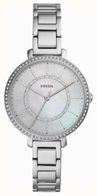 Fossil Kobiety jocelyn | srebrny zegarek ze stali nierdzewnej ES4451
