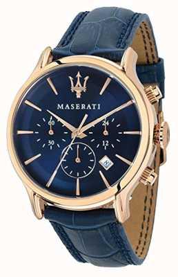Maserati Mężczyzna epoca 42mm | niebieska tarcza | niebieski skórzany pasek R8871618007