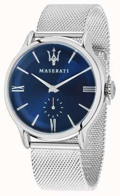 Maserati Mężczyzna epoca 42mm | niebieska tarcza | srebrna bransoletka z siatki R8853118006