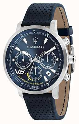 Maserati Mężczyzna gt 44mm | słoneczny | srebrny futerał | niebieska tarcza | niebieska skóra R8871134002