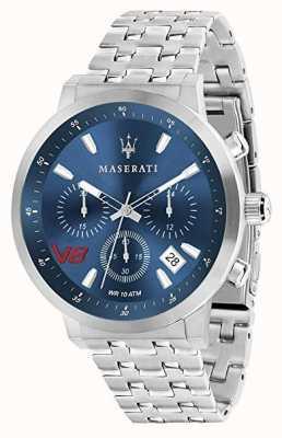 Maserati Mężczyzna gt 44mm | niebieska tarcza | srebrna bransoleta ze stali nierdzewnej R8873134002