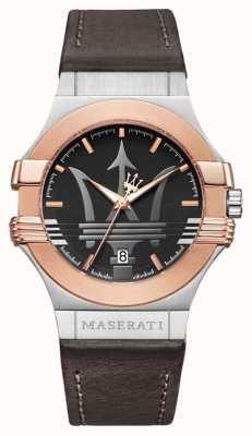 Maserati Mężczyzna potenza 42mm | pozłacana stal nierdzewna | brązowy stra R8851108014