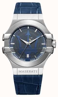 Maserati Mężczyzna potenza 42mm | stal nierdzewna | niebieska tarcza | niebieski pasek R8851108015