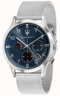 Maserati Mens ricordo 42mm | niebieska tarcza | bransoleta ze stali nierdzewnej R8873625003