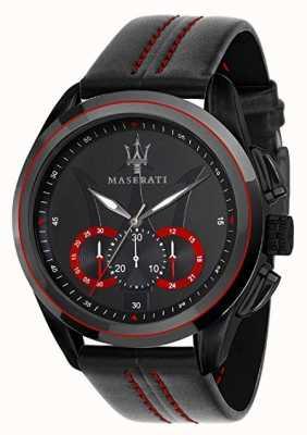 Maserati Męski chronograf traguardo czarna tarcza | czarna skóra R8871612023