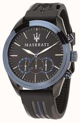 Maserati Męski chronograf traguardo niebieska tarcza | czarny silikon R8871612006