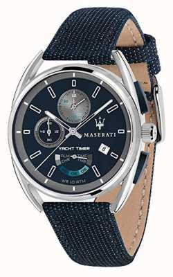 Maserati Licznik czasu Trimarano 41 | niebieska tarcza | niebieski pasek z tkaniny R8851132001