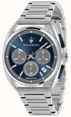 Maserati Mężczyzna trimarano 41mm | niebieska tarcza | bransoleta ze stali nierdzewnej R8873632004