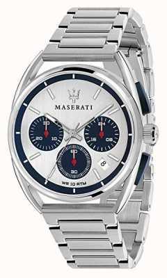 Maserati Mężczyzna trimarano 41mm | srebrno-niebieska tarcza | Stal nierdzewna R8873632001