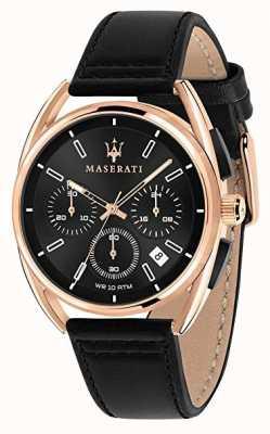 Maserati Mężczyzna trimarano 41mm | różowe złoto | czarna tarcza | R8871632002