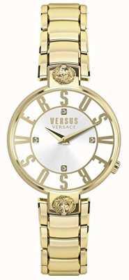 Versus Versace Damski kristenhof | srebrna tarcza | złota ze stali nierdzewnej VSP490618