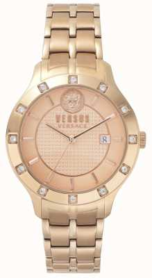 Versus Versace Brackenfell dla kobiet | rosegold dial | róża ze stali nierdzewnej VSP460418
