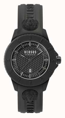 Versus Versace Tokio r | czarna tarcza | czarny silikonowy pasek VSP0Y2318