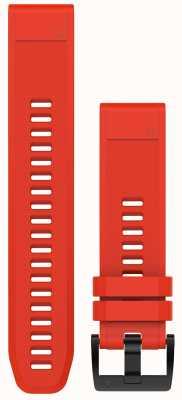 Garmin Płomienny czerwony pasek gumowy quickfit 22mm fenix 5 / instynkt 010-12496-03