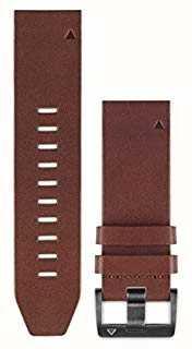 Garmin Brązowy pasek skórzany quickfit 22mm fenix 5 / instynkt 010-12496-05
