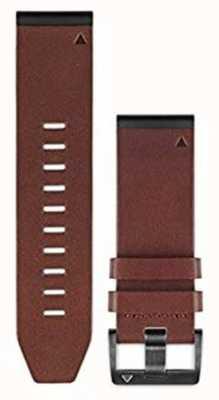 Garmin Brązowy pasek ze skóry quickfit 26mm fenix 5x / tactix charlie 010-12517-04
