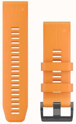 Garmin Pomarańczowy, gumowy pasek quickfit 26mm, fenix 5x / tactix charlie 010-12741-03