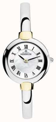 Michel Herbelin Zegarek damski srebrny zegarek złoto | tarcza z masy perłowej 17413/BT29