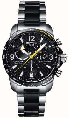 Certina | ds podium | gmt chronograph | stalowy czarny węgiel | C0016392220701