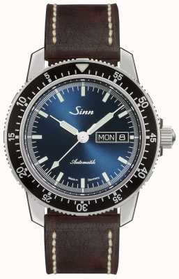 Sinn 104 st sa ib | ciemnobrązowy skórzany pasek w stylu vintage 104.013-BL50202002007125401A