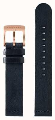 Kronaby Tylko 18 mm ciemno-niebieski skórzany pasek A1000-0576