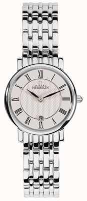 Michel Herbelin | kobiety | epsilon | biała tarcza | bransoleta ze stali nierdzewnej | 16945/B01