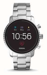Fossil Connected q explorist hr smart watch ze stali nierdzewnej FTW4011