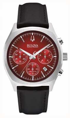Bulova Mężczyzna accutron ii czerwona data chronografu 96B238