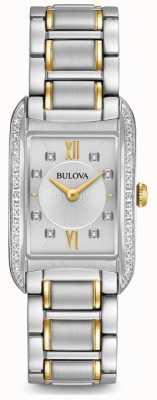 Bulova Zestaw damski ze srebrnego diamentu 98R227