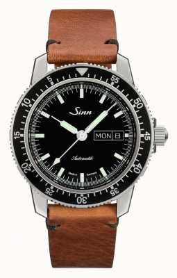 Sinn St sa i klasyczny zegarek ze skóry bydlęcej w stylu vintage 104.010-BL50205002401A