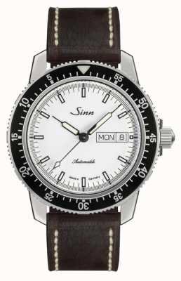 Sinn St sa iw klasycznym pilotowym zegarku jasnobrązowa skóra cielęca rocznik l 104.012-BL50202002007125401A