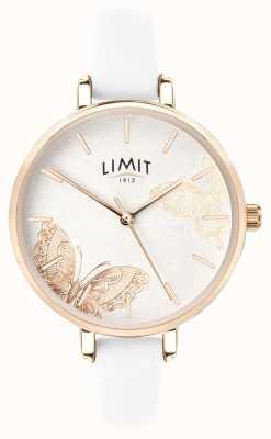 Limit | damski sekretny zegarek ogrodowy | biały motyl wybierania | 60013