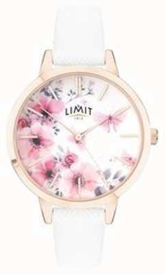 Limit | damski sekretny zegarek ogrodowy | różowa i biała, kwiecista tarcza 60021