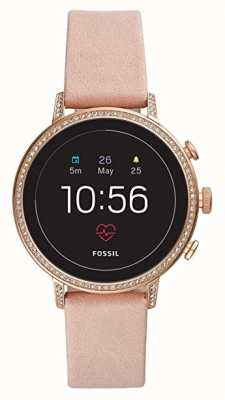 Fossil Connected q venture hr smart watch zestaw kamieni szlachetnych ze skóry do robienia makijażu FTW6015