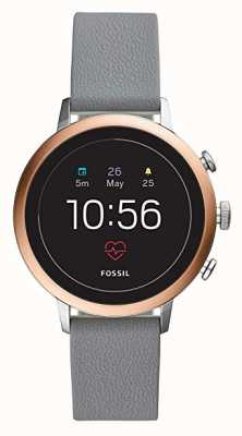Fossil Connected q venture hr smart watch szary pasek silikonowy FTW6016