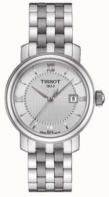 Tissot Bridgeport damska ze srebrną tarczą ze stali nierdzewnej T0970101103800