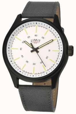 Limit | mężczyzna | czarny skórzany pasek | biała tarcza | 5949.01