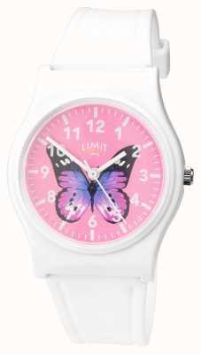 Limit | damski zegarek do ogrodu | różowa tarcza motyla | 60030.37