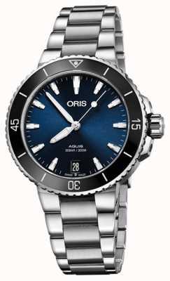 ORIS Zegarek Aquis z datownikiem 36,5 mm średniej wielkości 01 733 7731 4135-07 8 18 05P