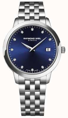 Raymond Weil Toccata dla kobiet | niebieska tarcza | bransoleta ze stali nierdzewnej 5988-ST-50081