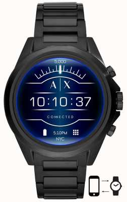 Armani Exchange Drexler czarny | stal nierdzewna | inteligentny zegarek AXT2002