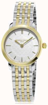 Frederique Constant | kobiety | smukła linia dwukolorowa | metalowy zegarek | FC-200WHS3B