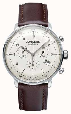 Junkers Męski skórzany pasek chronografu Bauhaus 6086-5