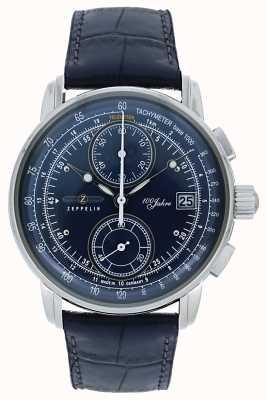 Zeppelin | seria 100 lat | data chronografu | niebieska skóra | 8670-3