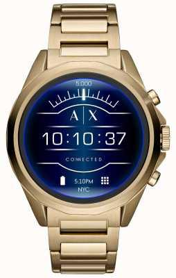 Armani Exchange Połączony ekran dotykowy SmartWatch ze złotym pvd AXT2001
